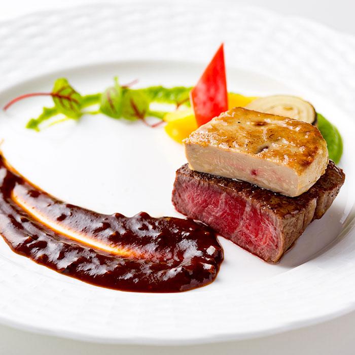牛フィレ肉とフォアグラのポワレ ロッシーニ風