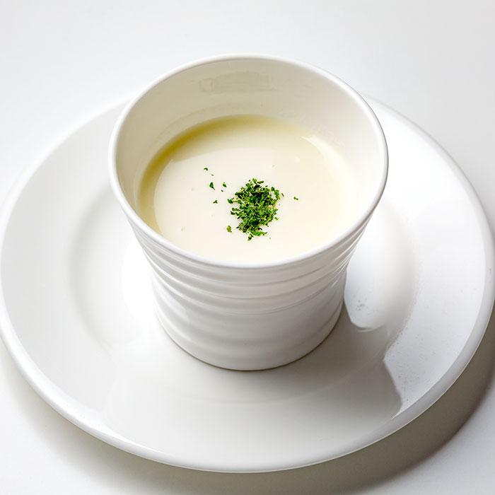 じゃがいもとポロ葱のポタージュスープ